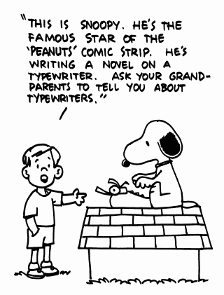 typewriter_cartoon snoopy
